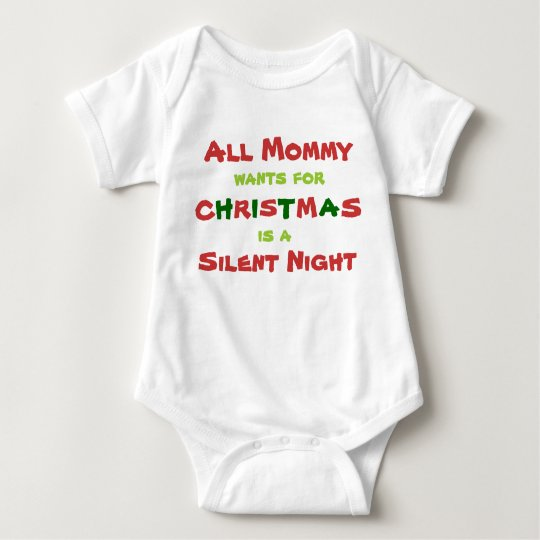 All Mummy Wants for Christmas Baby Bodysuit