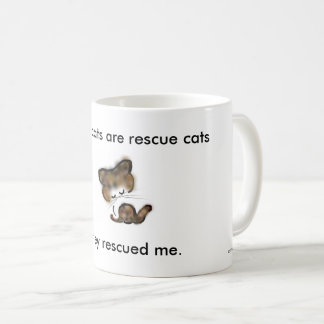"""""""all my cats are rescue cats"""" charity coffee mug"""