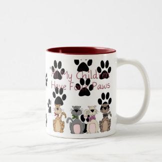 All My Children Have 4 Paws Two-Tone Coffee Mug