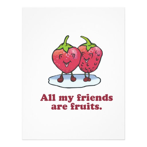 ALL MY FRIENDS ARE FRUITS FLYER