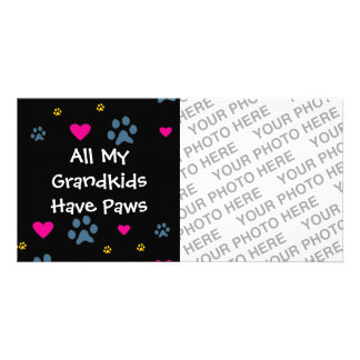 All My Grandkids-Grandchildren Have Paws Photo Card