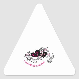 All My Heart Triangle Stickers