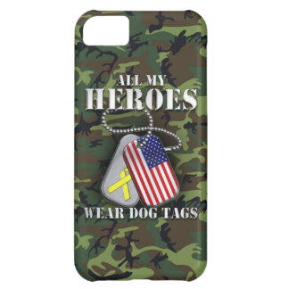 All My Heroes Wear Dog Tags - Camo iPhone 5C Covers