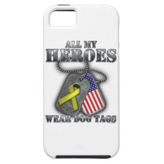 All My Heroes Wear Dog Tags Case For The iPhone 5