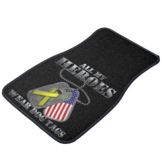 All My Heroes Wear Dog Tags Floor Mat