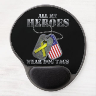 All My Heroes Wear Dog Tags Gel Mouse Pad