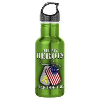 All My Heroes Wear Dog Tags 532 Ml Water Bottle