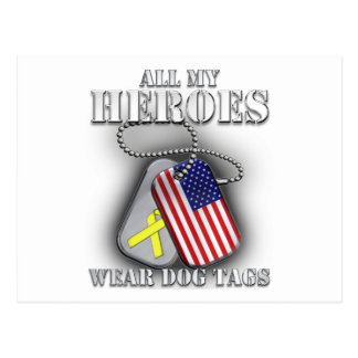 All My Heroes Wear Dog Tags Postcard