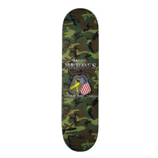 All My Heroes Wear Dog Tags Skate Boards