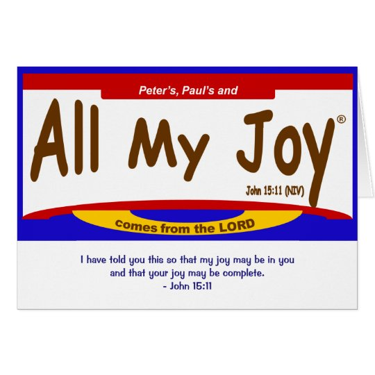 All My Joy Lord Note Card, envelope included Card