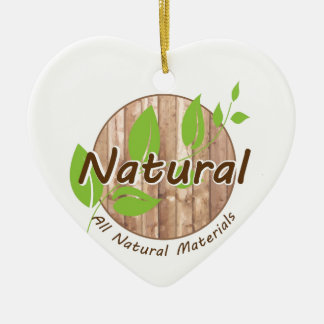 All Natural Materials Ceramic Heart Decoration