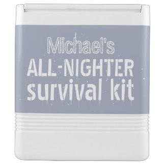 All-Nighter Survival custom name & color cooler Igloo Cool Box