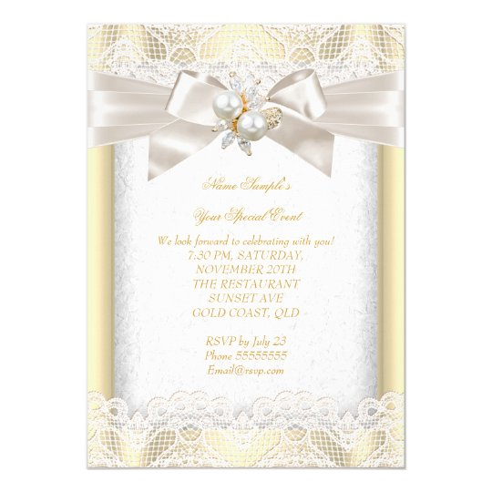 All Occasion Party Elegant Pearl Jewel Cream Lace