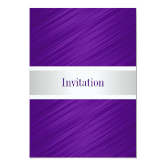 All Occasions Elegant Purple Stripes 13 Cm X 18 Cm Invitation Card