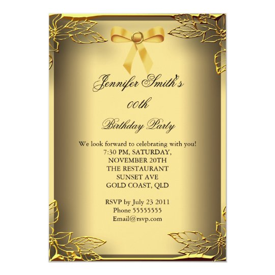 All Occasions Elite Elegant Party Gold Damask Card