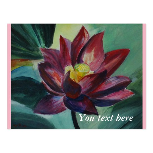 All occasions painted loyus flower Postcard