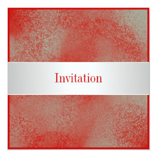 All Occasions Red Silver White Dust Card