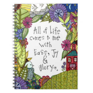 All of Life Comes to Me With EJG Notebook