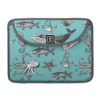 All Of The Sea Pattern Sleeve For MacBooks