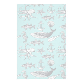 All Of The Sea Pattern Stationery