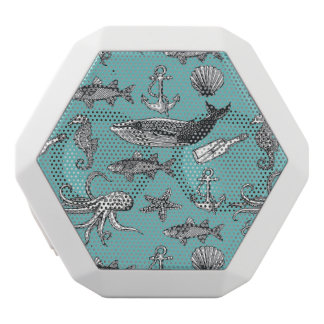 All Of The Sea Pattern White Bluetooth Speaker