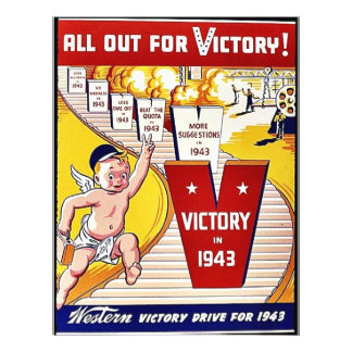 All Out For Victory, Victory In 1943 21.5 Cm X 28 Cm Flyer