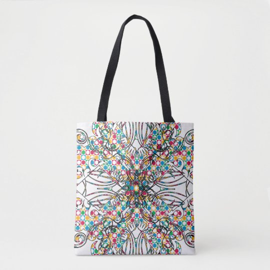 All-Over colour-Print Tote Bag-RokCloneDesigns