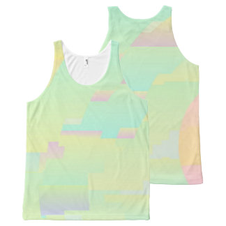All Over Design Abstract Art Sky Unisex Tank Top All-Over Print Tank Top