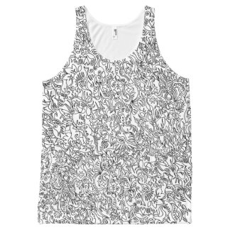 All Over Drawing tank top (unisex) All-Over Print Tank Top
