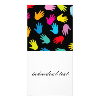 all over hands photo greeting card