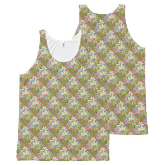 All Over Magnolia & pink Flower Unisex Tank Top