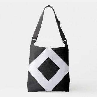 All-Over-Print Black Diamond, Bold White Border Tote Bag