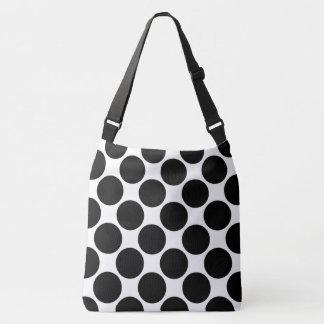 All-Over-Print Bold Black Polka Dots on White Tote Bag