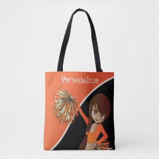 All Over Print Cheerleader - Orange Tote Bag