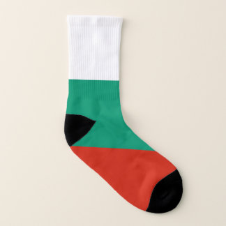 All Over Print Socks with Flag of Bulgaria 1