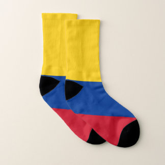 All Over Print Socks with Flag of Colombia 1