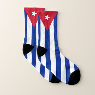 All Over Print Socks with Flag of Cuba