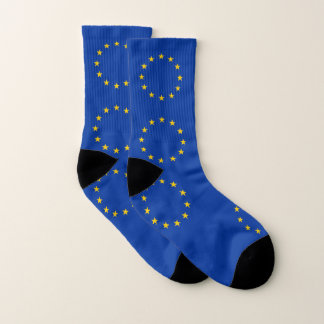 All Over Print Socks with Flag of European Union 1