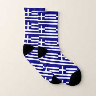All Over Print Socks with Flag of Greece 1