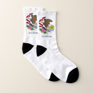All Over Print Socks with Flag of Illinois