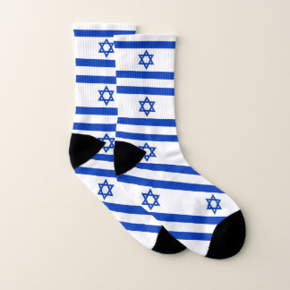 All Over Print Socks with Flag of Israel 1