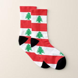 All Over Print Socks with Flag of Lebanon 1