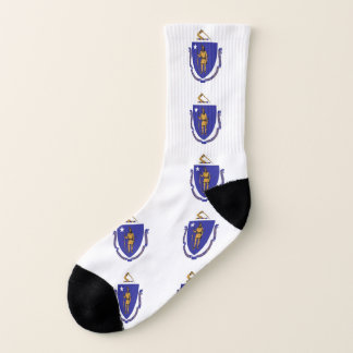 All Over Print Socks with Flag of Massachusetts 1