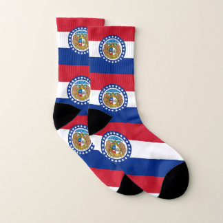 All Over Print Socks with Flag of Missouri 1