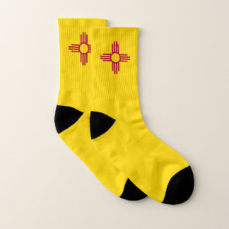 All Over Print Socks with Flag of New Mexico 1