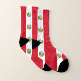All Over Print Socks with Flag of Peru