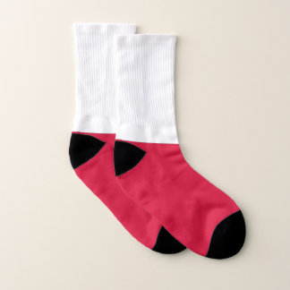 All Over Print Socks with Flag of Poland 1