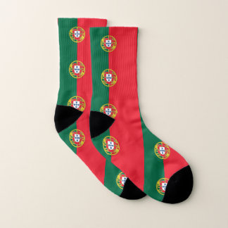 All Over Print Socks with Flag of Portugal 1