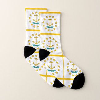 All Over Print Socks with Flag of Rhode Island 1
