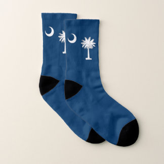 All Over Print Socks with Flag of South Carolina
